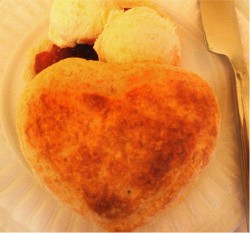 Queen's Cuisine's heart-shaped scones - IMAGE VIA
