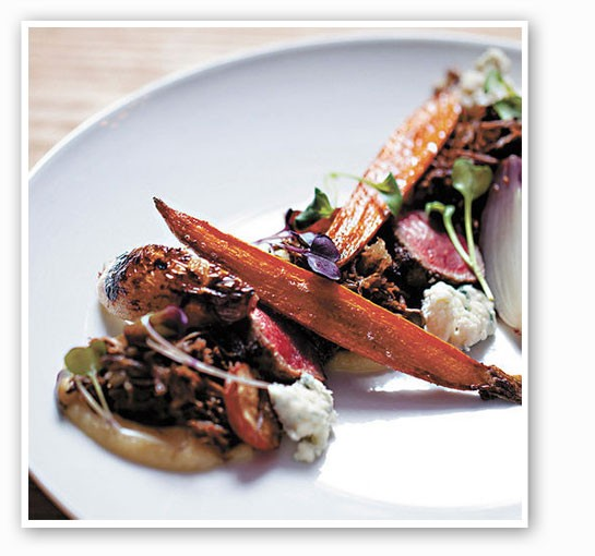 Parsnip miso, root vegetables, pearl onion and Maytag blue cheese at Little Country Gentleman. | Jennifer Silverberg