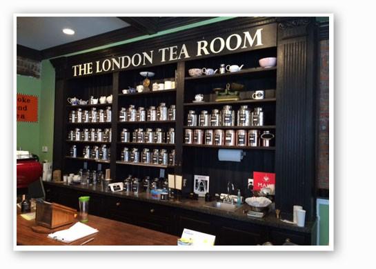Loose-leaf teas at the new London Tea Room.   Jackie James
