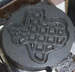 Don't mess with Texas-shaped waffles. - IMAGE VIA