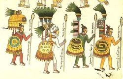 Aztec warriors, presumably unaware of the future of food trucks