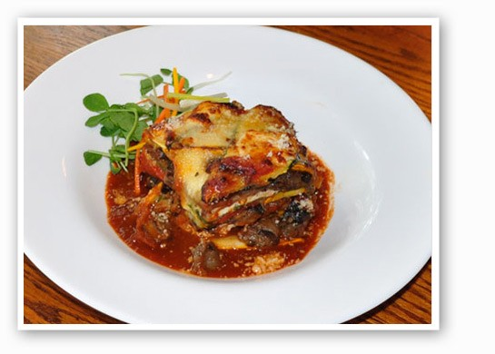 Local summer eggplant lasagna at Big Sky Cafe | Tara Mahadevan
