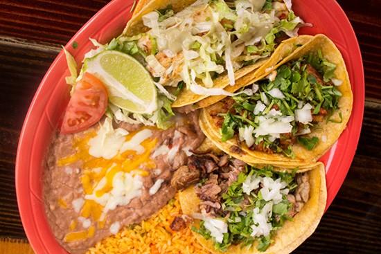 Tacos at El Burro Loco: tilapia, pastor and carne asada. | Photos by Mabel Suen