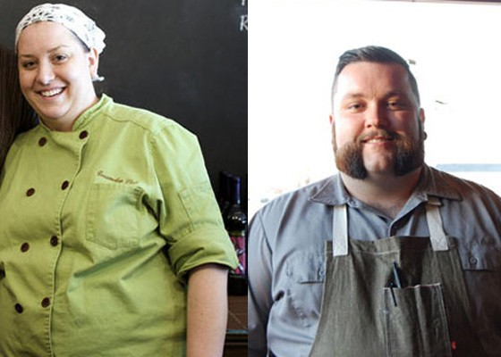 Chef Cassy Vires, left, will defend Juniper's title against Rick Lewis, right, plus Heather Stone and Justin McMillen. | Jennifer Silverberg/Cheryl Baehr