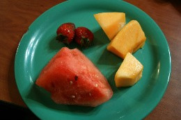 Skip the salad and go straight for the melons. - CHRISSY WILMES