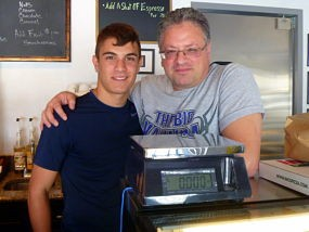Frank Loforte, right, and his son, also named Frank.