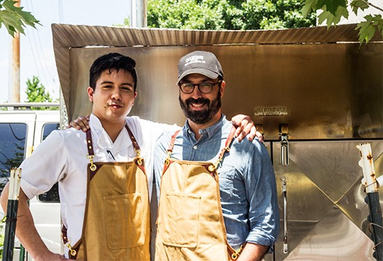 Chef Haley Riley and owner Tom Schmidt.