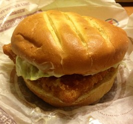 In this corner, Burger King's Premium Alaskan Fish Sandwich. - EVAN C. JONES