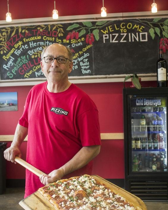 Pizzino owner Jim Zimmerman.   Mabel Suen