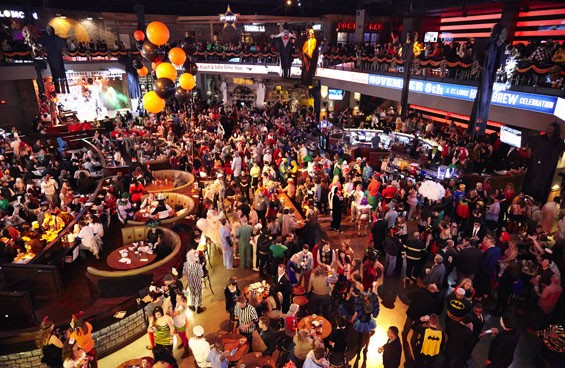 FOX Sports Midwest Live! at Ballpark Village boasts 20,000 square feet and a 40-foot LED screen. - STEVE TRUESDELL