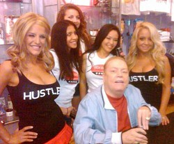 Larry Flynt cracks a Sex Drive with the ladies.