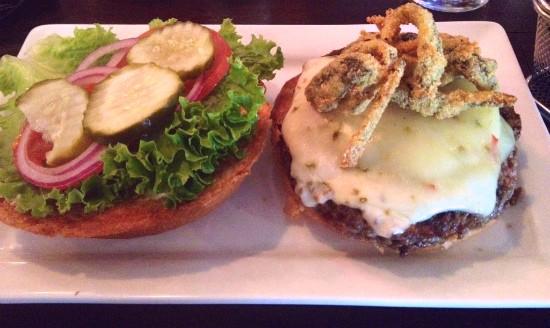 The green chile cheeseburger at 5 Star Burgers. - EVAN C. JONES