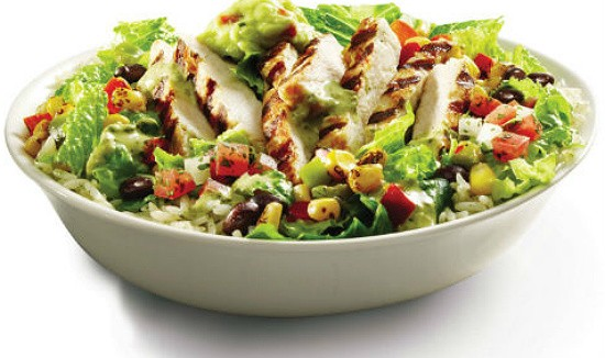 """The """"Chicken Burrito Bowl"""" on Taco Bell's new """"Cantina Bell Menu."""" - TACO BELL PR"""
