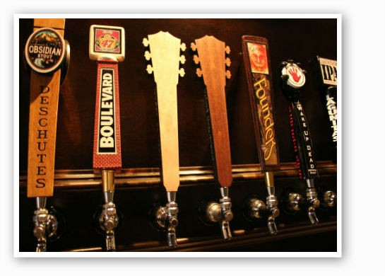 Custom taps at Heavy Riff. | Zach Garrison