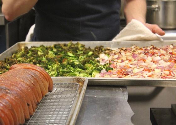 Poletti prepares the porchetta's accompaniments. | Nancy Stiles