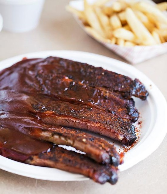 The ribs at Lil' Mickey's Memphis Barbeque - JENNIFER SILVERBERG