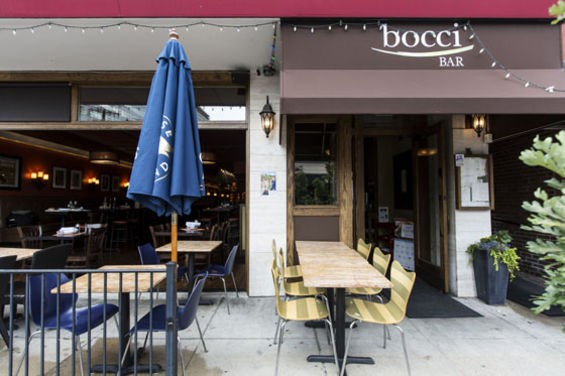 Outside of Bocci Bar. | Jennifer Silverberg