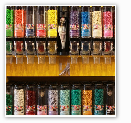 The selection of M&M's at Miss M's, of course.   Zoe Kline
