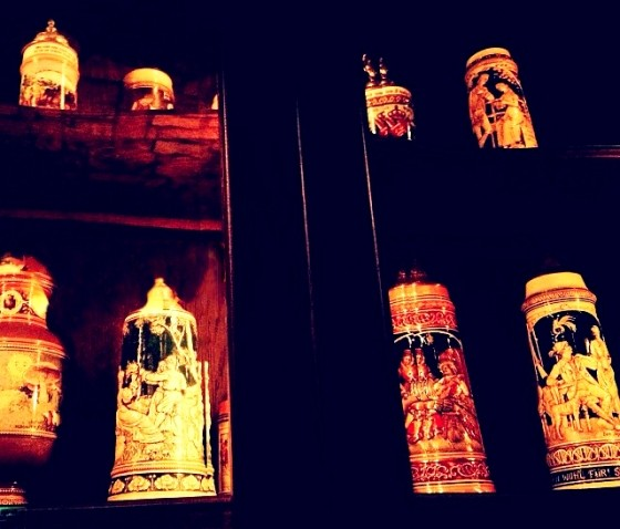 Just a portion of Schneithorst's extensive beer stein collection. | Sara Graham