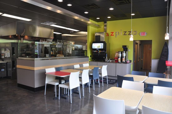 Inside Zpizza in Clayton. - TARA MAHADEVAN
