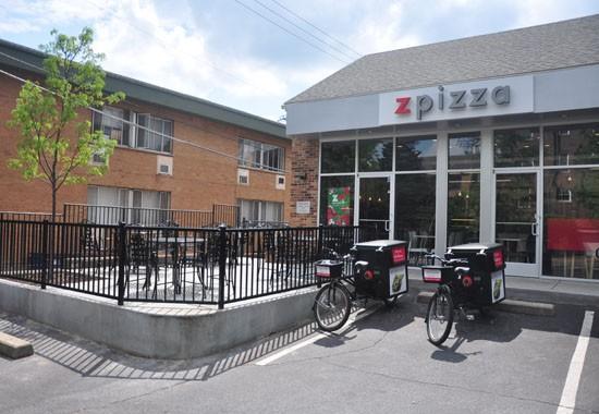 Outside the newly opened Zpizza in Clayton. - TARA MAHADEVAN