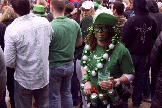 Plenty of parade-goers got into the spirit of St. Pat's Day in Dogtown. - LIZ MILLER