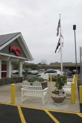 New Adirondack-style chairs outside to south county Red Lobster. - LIZ MILLER