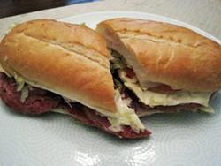 The hot salami sandwich at Gioia's Deli - IAN FROEB