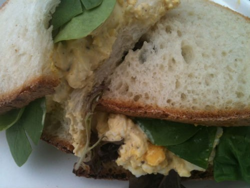Picnic-ready egg salad sandwich from Township Grocer. - ROBIN WHEELER