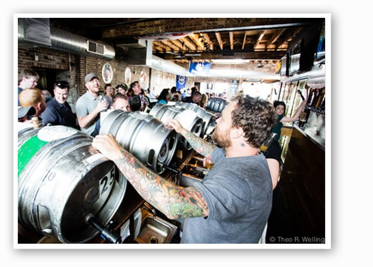 Casks at iTap Soulard. | Theo Welling