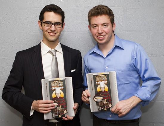 Jon Harris and Ari Axelbaum, authors of The WiseJack Man's Cookbook. - BILL BRADY PHOTOGRAPHY