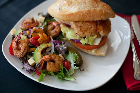 The chicken torta at Laredo on Lafayette Square - CRYSTAL ROLFE