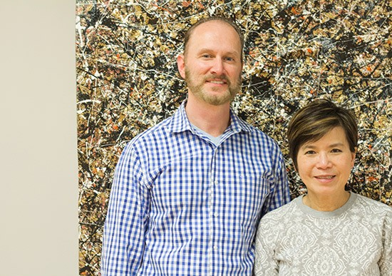 Co-owners Patrick Reiner and Mei Yang.