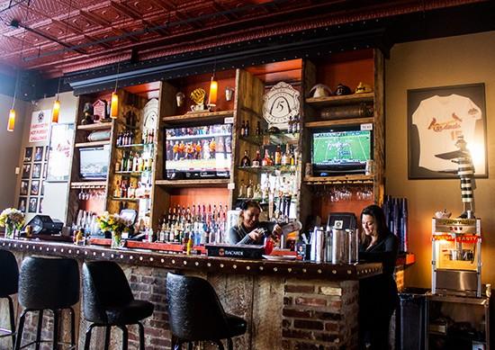 The bar at the Precinct.