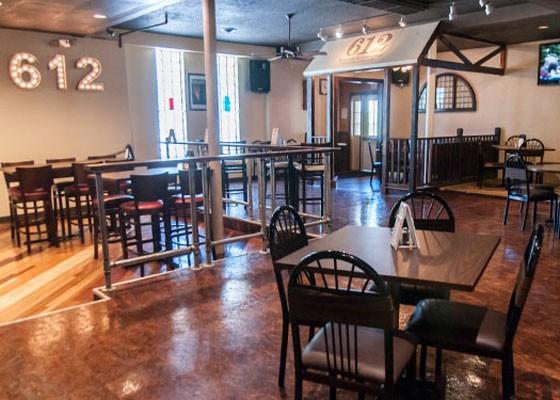 Inside 612 Kitchen & Cocktails.   Caroline Yoo