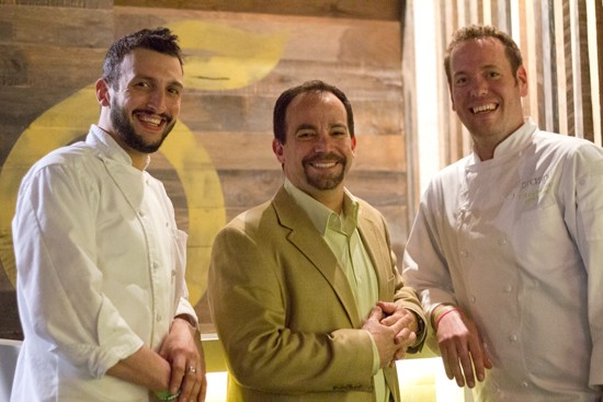 Executive chef Tony Marchetto, general manager Charles Leon and company executive chef Jared Case.