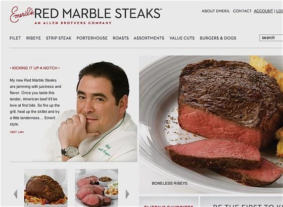 "Here's  a hint: Let's call this handsome feller ""Corn-Fed Emeril"" - WWW.REDMARBLESTEAKS.COM"