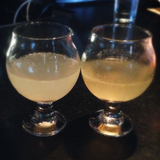 The daiquiri on the right has been aged eight weeks. | Patrick J. Hurley
