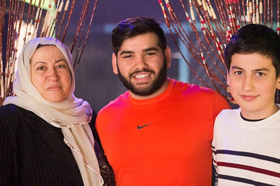 Owner Mohammad Noori (center) with his family.