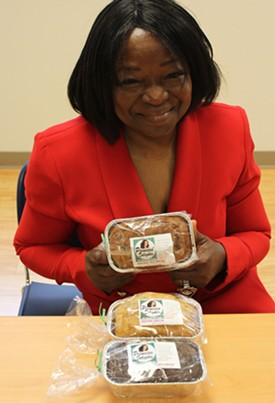 Princess Ezenwa with some samples of her scratch-made baked goods. - MABEL SUEN