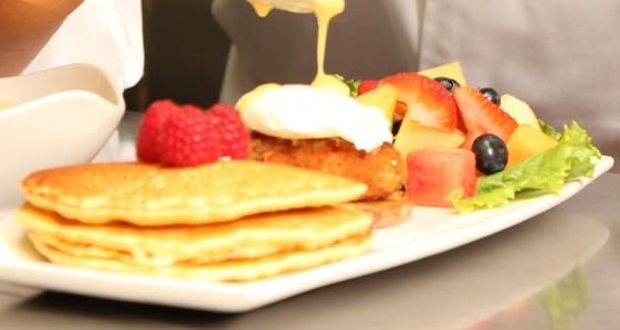 Pancakes at Wild Flower   image courtesy of Wild Flower