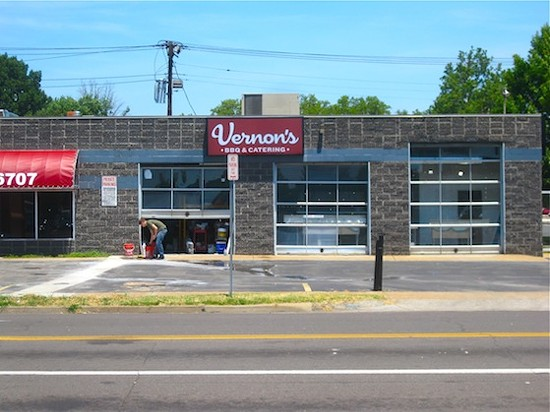 Vernon's BBQ and Catering during construction this spring - IAN FROEB