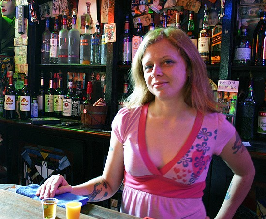 Misty Rose Martin brightens up happy hour at Venice Cafe. - KATIE MOULTON