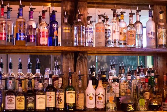 Selections at the bar.
