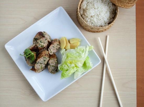 The sai oua, with sticky rice, at Fork & Stix | Jennifer Silverberg