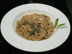 Fresh sage, courtesy of Trattoria Marcella. Sage on pasta bowl courtesy of Crate & Barrel. - KRISTIE MCCLANAHAN