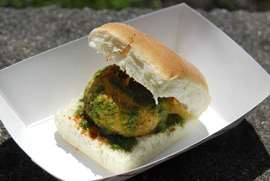 "Vada pav, a potato cake or ""Bombay Burger"" | Kaitlin Steinberg"