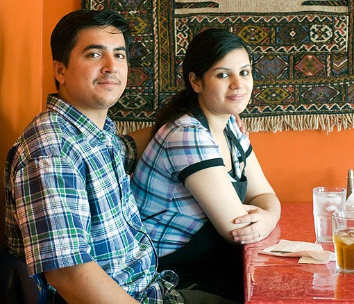 Owners Kahled and Tamana Nagshbandi are both natives of Afghanistan. They met in St. Louis, got married in 2007 and are expecting their first child next month. See slide show here. - PHOTO: JENNIFER SILVERBERG