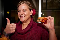 Lauren Day shows off her winning sandwich. - COURTESY ST. LOUIS BREAD CO.