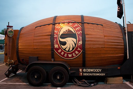 The Deschutes mobile tap room. - JON GITCHOFF